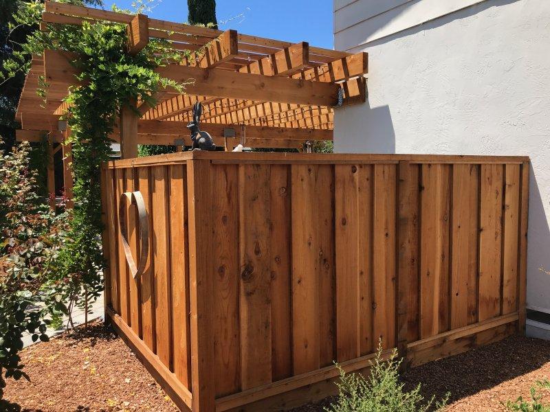 Wooden  Fence Enclosure San Jose