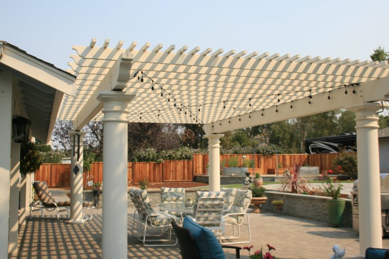 White Arbor With Electrical Work Gilroy