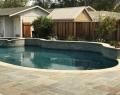 Raised Seat Wall Along Pool Patio Gilroy