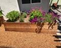 Raised Wooden Planter Bed Back Side San Jose