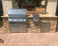 Outdoor Masonry BBQ Grill Front View Gilroy